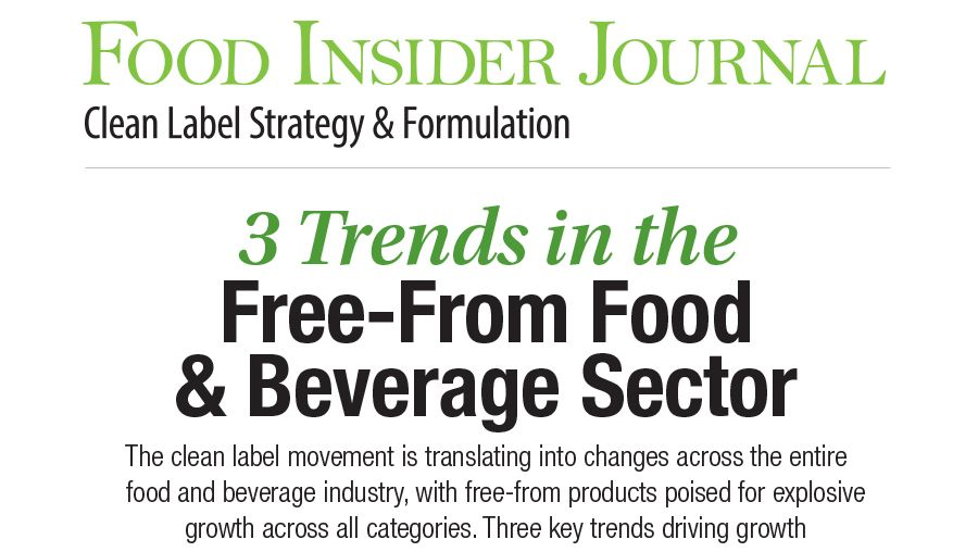 Infographic: 3 Trends in the Free-From Food & Beverage Sector