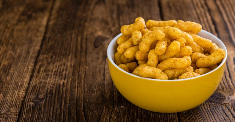 Bowl of Puffed Snacks