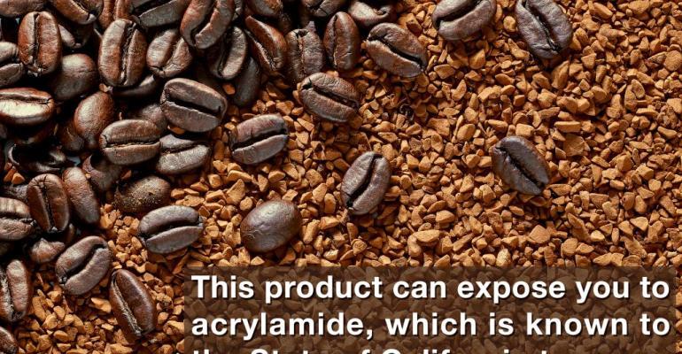 Prop 65 Coffee Warning Label