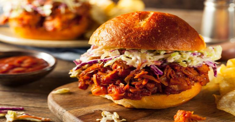 Jackfruit barbecue sandwich