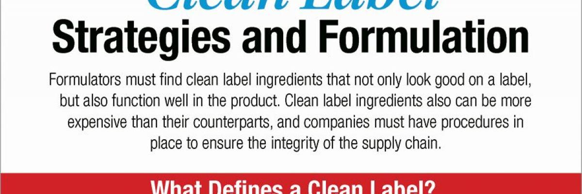 Infographic: Clean Label Strategies and Formulation